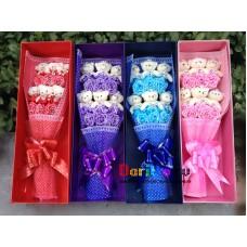 Букет из игрушек Мишки и Цветы в коробке