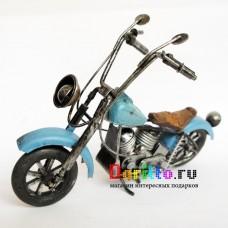 Металлическая фигурка Мотоцикл ретро синий