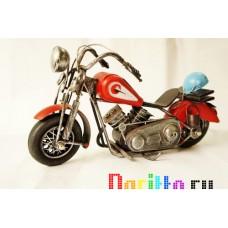 Металлическая фигурка Мотоцикл красный