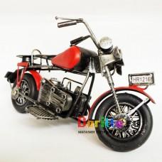 Металлическая фигурка Мотоцикл ретро красный