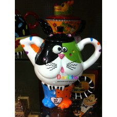 Чайный набор (чайник+чашка) Кот