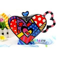 Керамический чайник Сердце