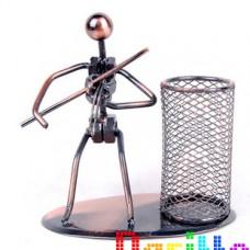 Металлическая фигурка карандашница Скрипач