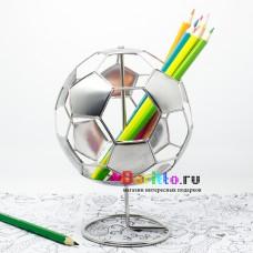 Металлическая фигурка карандашница Футбольный мяч