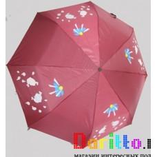 Зонт меняющий цвет Птички