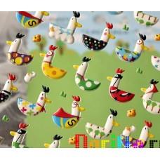 Набор наклеек для скрапбукинга Весёлые курицы