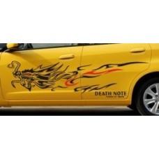 Наклейка на авто Дракон