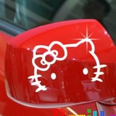 Наклейка на зеркало машины Hello Kitty