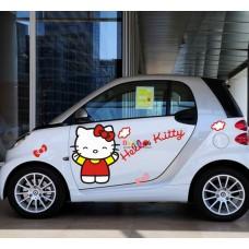 Наклейка на авто Hello Kitty облака