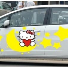 Наклейка на авто Hello Kitty луна