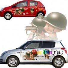 Наклейка на авто Солдатики