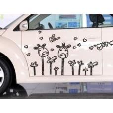 Наклейка на авто Жирафы