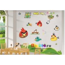 Наклейка на стену Angry Birds (злые птицы)