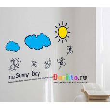Наклейка на стену Солнечный день