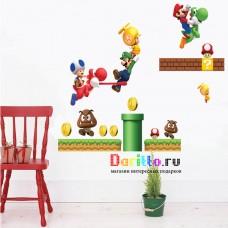 Наклейка на стену Супер Марио 2