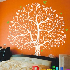 Наклейка на стену Дерево и птички