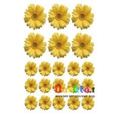 Наклейка на стену Цветочки жёлтые
