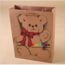 Пакет упаковочный Мишка с бантом