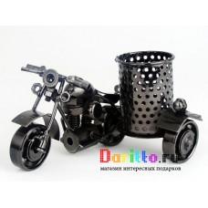 Металлическая фигурка карандашница Мотоцикл