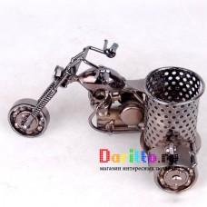 Металлическая фигурка карандашница Мотоцикл 2